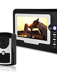 cheap -810FC11 Wired 7 inch Hands-free 800*480 Pixel One to One video doorphone
