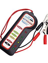 Недорогие -автомобильный аккумулятор тестер 12 В 6 светодиодный свет авто цифровой генератор зарядки тестер для автомобиля мотоцикл авто диагностический инструмент