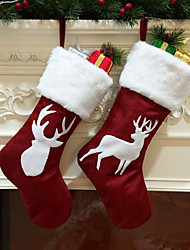 cheap -Stockings / Christmas / Christmas Ornaments Christmas / Holiday / Family Cloth Cartoon / Party / Novelty Christmas Decoration