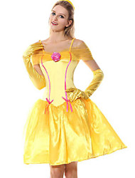 cheap -Princess Adults' Women's Cosplay Vacation Dress Dress Cosplay Costume For Party Halloween Festival Tulle Polyster Halloween Carnival Masquerade 1 Hair Jewelry Dress Gloves