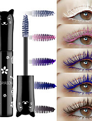 cheap -Color mascara waterproof quick-drying curling lengthening eyelash blue powder white purple black coffee color ink mascara
