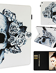 cheap -Case For Apple iPad Pro 11'' Wallet / Card Holder / with Stand Full Body Cases Scenery / Skull / Flower PU Leather