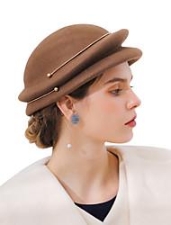 cheap -Metalic / Wool Felt Fascinators / Hats / Headwear with Metal Chain / Split / Metal 1 Piece Kentucky Derby Headpiece