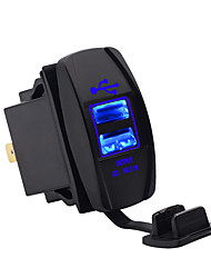 cheap -12-24V Dual USB Charger with 60cm Wire Line Boat Type Blue LED Waterproof for Motorcycle Car ModelsCC-011A1