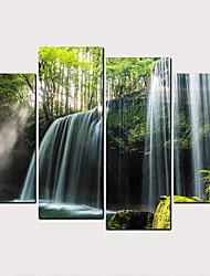 cheap -Print Rolled Canvas Prints - Natures & Outdoors Classic Modern Four Panels Art Prints