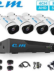 Недорогие -4-канальный комплект мониторинга 5 миллионов камер высокой четкости видеонаблюдения видеорегистратор одна машина проводная камера видеонаблюдения