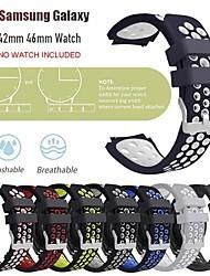 abordables -Bracelet de Montre  pour Samsung Galaxy Watch 46 / Samsung Galaxy Watch 42 Samsung Galaxy Boucle Classique Silikon Sangle de Poignet