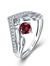 cheap -Ring AAA Cubic Zirconia Silver S925 Sterling Silver Sweet 1pc 6 7 8 / Women's / Daily