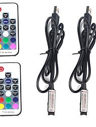 abordables -2pcs 12 V / 5 V / Alimenté par Port USB WiFi / Télécommandé / Accessoire d'ampoule Plastique Manette pour la lumière de bande de LED RVB / pour la bande LED