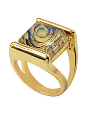 cheap -Women's Ring 1pc Gold Resin Alloy Luxury Unique Design Fashion Engagement Gift Jewelry Geometrical Cool