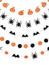 Недорогие -Halloween / фестиваль Аксессуары для вечеринок Баннер / листовка С узором Чистая бумага Классика / Креатив / Деревенская тема