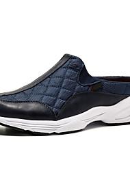 cheap -Men's Comfort Shoes Canvas Fall / Winter Classic / Casual Clogs & Mules Waterproof Black / Dark Grey / Light Grey