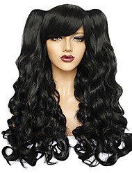 cheap -Synthetic Wig Water Wave Free Part Wig Long Black#1B Brown Medium Brown Synthetic Hair 26inch Women's Odor Free Creative Smooth Black Brown / Heat Resistant / Heat Resistant / Doll Wig