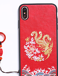 cheap -Case For Huawei Applicable to P20 Anti-fall Mobile Phone Shell Chinese Style P30 National Wind Mate20 Ring Buckle Nova3i Personality P30Pro/P20Pro Longfeng Chengxiang Mate20 Leather Pattern Embroidery