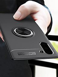 Недорогие -Кейс для Назначение SSamsung Galaxy Note 9 / Note 8 / Galaxy Note 10 Кольца-держатели Кейс на заднюю панель Однотонный ТПУ / Металл