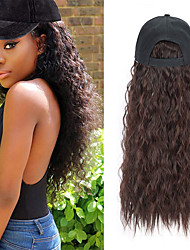 cheap -Synthetic Wig Synthetic Extentions Curly Free Part Wig Medium Length Black#1B Chestnut Brown Dark Brown Medium Brown Synthetic Hair 24 inch Women's Best Quality New New Arrival Black White Laflare