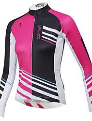 abordables -ILPALADINO Femme Manches Longues Maillot Velo Cyclisme Hiver Toison Térylène Violet Orange Jaune Grandes Tailles Cyclisme Hauts / Top VTT Vélo tout terrain Vélo Route Etanche Respirable Séchage rapide