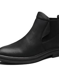 cheap -Men's Combat Boots PU Fall Boots Mid-Calf Boots Black