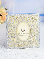 "cheap -Wrap & Pocket Wedding Invitations 30pcs - Invitation Cards / Thank You Cards / Response Cards Modern Style / Fairytale Theme / Floral Style Pearl Paper 6""×6"" (15*15cm)"