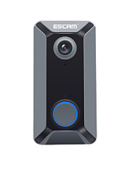 cheap -ESCAM V6 720P Wireless Doorbell Battery Video Camera Free Cloud Storage Waterproof Home security  Bell with Indoor Chime
