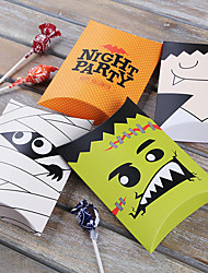 cheap -12pcs Halloween Paper Candy Box Festive Party Decorations Gift Box Halloween Supplies