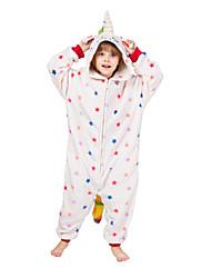 cheap -Kid's Kigurumi Pajamas Flying Horse Onesie Pajamas Flannelette White Cosplay For Men and Women Animal Sleepwear Cartoon Festival / Holiday Costumes