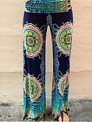 cheap -Women's Boho Loose Wide Leg Pants - Print Print Rainbow S M L