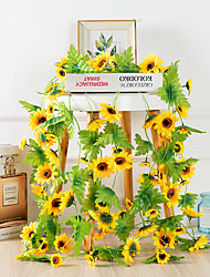 cheap -1Pcs Simulation Sun Flower Rattan Wedding Festival Decoration