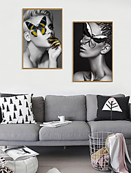 cheap -Framed Art Print Framed Set - Abstract People PS Photo Wall Art