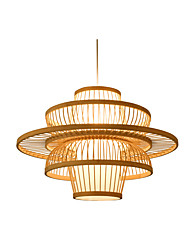 cheap -1-Light Lantern Pendant Light Ambient Light Wood Wood / Bamboo Pendant Light Lamps for Dining Room Reataurant