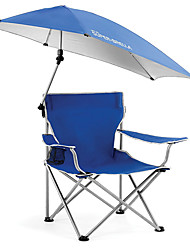 cheap -Fishing Chairs Camping Chair Camping Canopy Chair Waterproof Portable Sunscreen Ultraviolet Resistant Metalic for Camping / Hiking Fishing Beach Traveling Spring Summer Blue / Foldable / Comfortable
