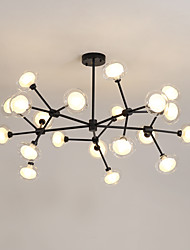 cheap -20 Bulbs LITBest 105 cm Chandelier Metal Glass Circle Painted Finishes Modern / Nordic Style 110-120V / 220-240V