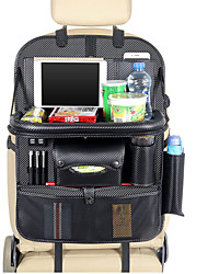 cheap -USB Charger Car Seat Back Bag Organizer Storage Pu Leather Travel Multifunction Pocket
