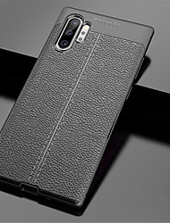 cheap -Case For Samsung Galaxy Note 9 / Note 8 / Galaxy Note 10 Embossed Back Cover Solid Colored TPU