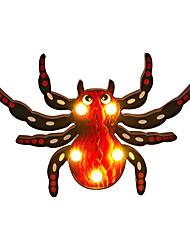 Недорогие -Брелонг паук хэллоуин огни на батарейках хэллоуин из светодиодов ночной свет настольная лампа для хэллоуина украшения стол декор стены красный 1 упак