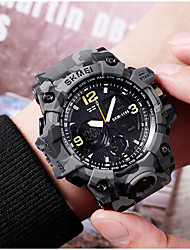 cheap -SKMEI Men's Military Watch Analog - Digital Digital LED Military Water Resistant / Waterproof Alarm / One Year / Silicone