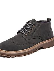 cheap -Men's Combat Boots PU Summer Boots Black / Gray / Khaki / Outdoor