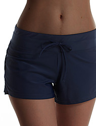 cheap -Women's Swim Shorts Board Shorts Bottoms Quick Dry Swimming Surfing Water Sports Solid Colored Autumn / Fall Spring Summer / Micro-elastic