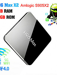 cheap -H96 MAX  Amlogic S905X2 Android 8.1 4GB DDR4 32GB TV Box Dual Band WiFi LAN Bluetooth USB3.0 HDMI
