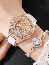 cheap -Women's Fashion Watch Simulated Diamond Watch Pave Watch Quartz Charm Analog Gold