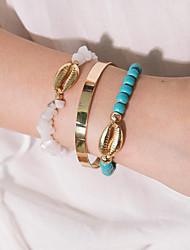 cheap -3pcs Women's Bracelet Classic Precious Shell Classic Fashion Elegant Resin Bracelet Jewelry Gold For Daily