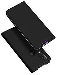 Недорогие -чехол для Motorola MOTO держатель одного видения карты / с подставкой / откидной чехол для тела сплошная цветная кожа / тпу