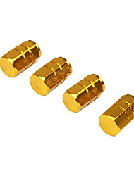 cheap -4pcs/pack Tires Valves Aluminum Alloy Tyre Stem Air Caps Airtight Caps
