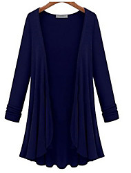 cheap -Women's Solid Colored Cardigan Long Sleeve Sweater Cardigans V Neck White Black Blue