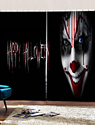 cheap -Personality Original Horror Clown Decorative Curtains Blackout Shading Fabric Curtain for Sitting Room /Bedroom /Club
