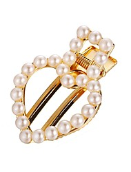 cheap -Women's For Holiday School Date Birthday Party Mini Wedding Classic Imitation Pearl Gold Plated Golden 1