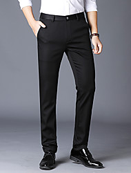 abordables -Homme Basique Costume Pantalon - Couleur Pleine Noir Bleu Marine Kaki US34 / UK34 / EU42 US36 / UK36 / EU44 US38 / UK38 / EU46