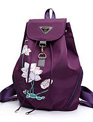abordables -Etanche Tissu Oxford Motif / Impression Bagage à Main Floral / Botanique Entraînement Noir / Bleu de minuit / Violet