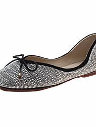 cheap -Women's Flats Flat Heel Bowknot PU Casual Spring Black / Beige / Color Block