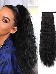 cheap -Drawstring Ponytails / Synthetic Extentions Women / Extention / New Synthetic Hair Hair Piece Hair Extension Curly Medium Length Christmas / Halloween / Birthday